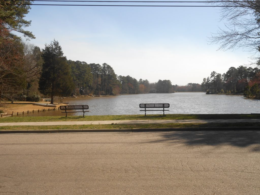 View of Parkwood lake looking south from Clermont Road